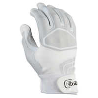 Cutters Prime Command Solid Batting Gloves - Men's - White / Grey