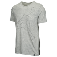 Jordan Jumpman Rise Dri-FIT T-Shirt - Men's - Grey / Black
