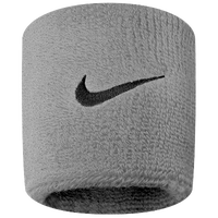 Nike Swoosh Wristbands - Men's - Grey / Black