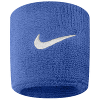 Nike Swoosh Wristbands - Blue / White
