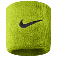 Nike Swoosh Wristbands - Men's - Light Green / Black