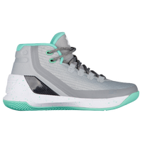 Under Armour Curry 3 - Girls' Grade School -  Stephen Curry - Grey / Light Green