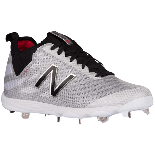 ... new balance white and gold cleats baseball ... e58bd1b5ee2