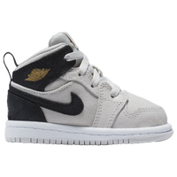 Jordan AJ1 Mid - Boys' Toddler - Off-White / Gold