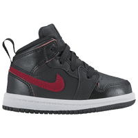 Jordan AJ1 Mid - Boys' Toddler - Black / Red
