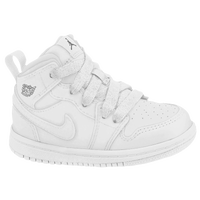 Jordan AJ1 Mid - Boys' Toddler - All White / White