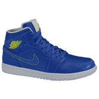 Jordan AJ 1 Mid - Girls' Preschool - Blue / Light Green