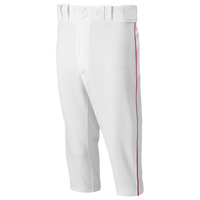 Mizuno Premier Short Piped Pants - Men's - White / Red