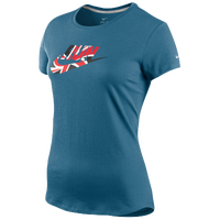 Nike Country Run T-Shirt - Women's - Blue / Red