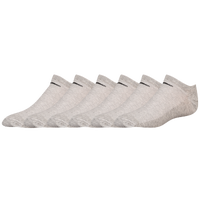 Nike 6PK Lightweight No Show Socks - Women's - Grey / Grey