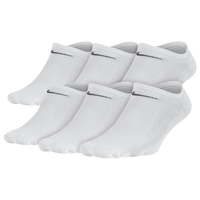 Nike 6PK Lightweight No Show Socks - Women's - All White / White