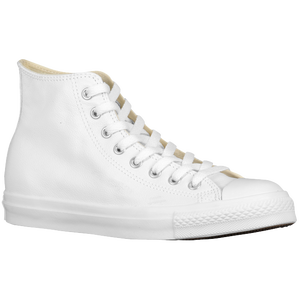 Converse All Star Leather Hi - Men's - White/Monochrome
