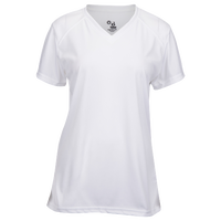 Badger Sportswear B-Core V-Neck T-Shirt - Women's - All White / White