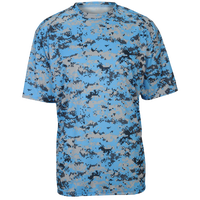 Badger Sportswear Digital Camo T-Shirt - Men's - Light Blue / Grey