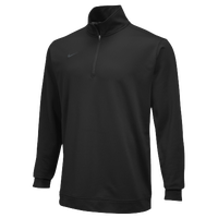 Nike Team Dri-Fit 1/2 Zip - Men's - All Black / Black