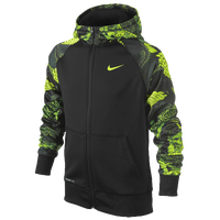 Nike Kobe Performance FZ Hoodie - Boys' Grade School - Black / Light Green