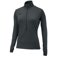Nike Team Pro Hyperwarm 1/2 Zip 3.0 - Women's - Grey / Grey
