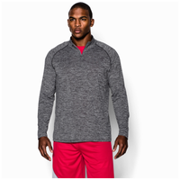 Under Armour Lightweight Tech 1/4 Zip L/S T-Shirt - Men's - Black / Black