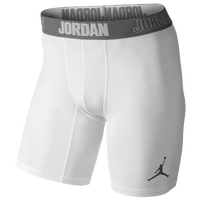 Jordan AJ All Season Compression Shorts - Men's - White / Grey