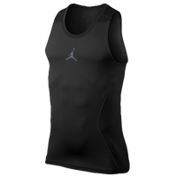 Jordan AJ All Season Compression Tank - Men's - All Black / Black
