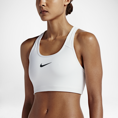 nike pro swoosh bra women 39 s training clothing white black. Black Bedroom Furniture Sets. Home Design Ideas
