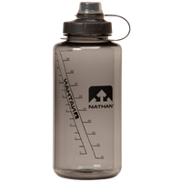 Nathan Bigshot Narrow Mouth Tritan 34 oz Botttle - Grey / Black