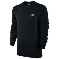 Nike Club Fleece Crew - Men's - Black / Black