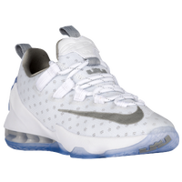 Nike LeBron XIII Low - Boys' Grade School - White / Silver