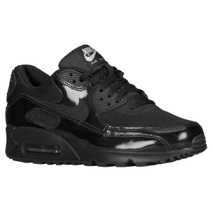 Nike Air Max 90 - Women's - Black/Metallic Silver/Black