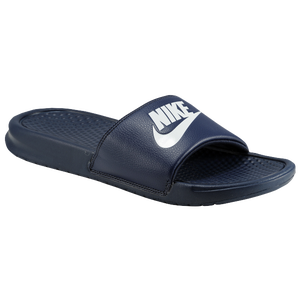 Nike Benassi JDI Slide - Men's - Midnight Navy/Windchill