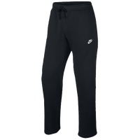 Nike Club Open Hem Fleece Pants - Men's - Black / Black