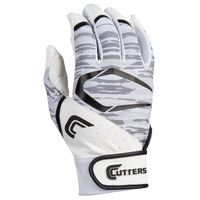 Cutters Power Control 2.0 Batting Gloves - Men's - White / Black