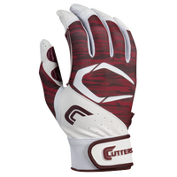 Cutters Power Control 2.0 Batting Gloves - Men's - White / Maroon