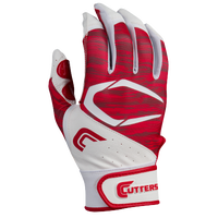 Cutters Power Control 2.0 Batting Gloves - Men's - White / Red