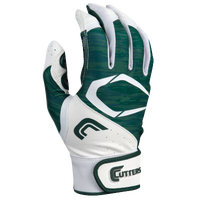 Cutters Power Control 2.0 Batting Gloves - Men's - White / Dark Green