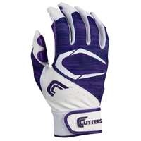 Cutters Power Control 2.0 Batting Gloves - Men's - Purple / White
