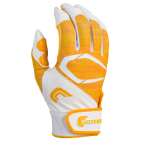Cutters Power Control 2.0 Batting Gloves - Men's - White / Gold