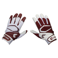 Cutters Power Control 2.0 Yin Yang Batting Glove - Men's - White / Maroon