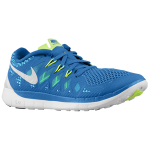 Nike Free 5.0 - Boys' Grade School - Military Blue/Polarized Blue/Midnight Navy/White
