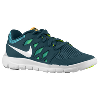Nike Free 5.0 - Boys' Preschool - Dark Green / Aqua