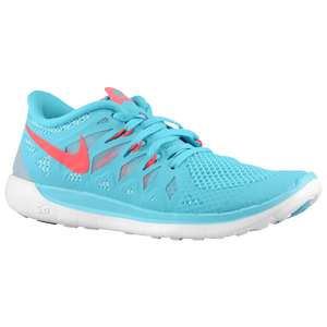 Nike Free 5.0 - Girls' Grade School - Polarized Blue/Laser Crim/Pure Platinum/Laser Crim
