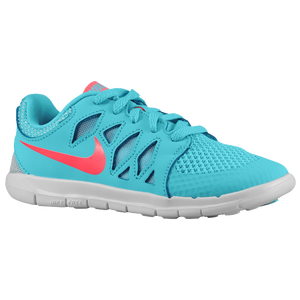 Nike Free 5.0 - Girls' Preschool - Polarized Blue/Laser Crim/Pure Platinum/Laser Crim