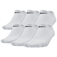 Nike 6 Pack Dri-Fit No Show Sock - Boys' Grade School - All White / White