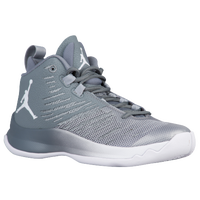 Jordan Super.Fly 5 - Boys' Grade School - Grey / White