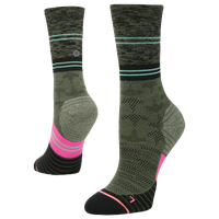 Stance Elipse Run Crew - Women's - Olive Green / Black