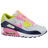 Nike Air Max 90 - Girls' Grade School - White / Navy