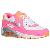 Nike Air Max 90 2007 - Girls' Grade School - White / Pink