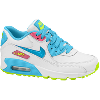 Nike Air Max 90 - Girls' Grade School - White / Light Green