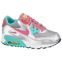 Nike Air Max 90 - Girls' Preschool - Grey / Light Green