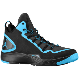 Jordan Super.Fly II PO - Men's - Black/Dark Powder Blue